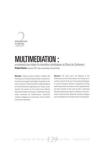 Multimédiation - musée des Confluences