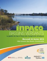 Cahier de conférence - INPACQ Bassins versants 2010 - GROBEC