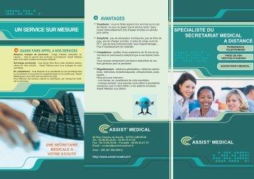 depliant assist medical - Assist' Médical