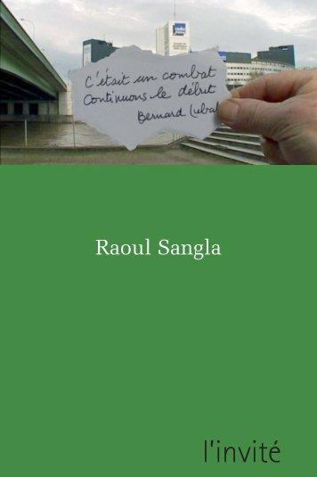 Raoul Sangla - PDF - Filmer en Alsace