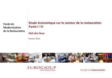 Téléchargez l'étude économique sur le secteur de la restauration