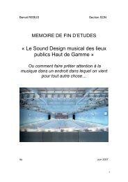 Le Sound Design Musical des Lieux Publics Haut de Gamme (FR)