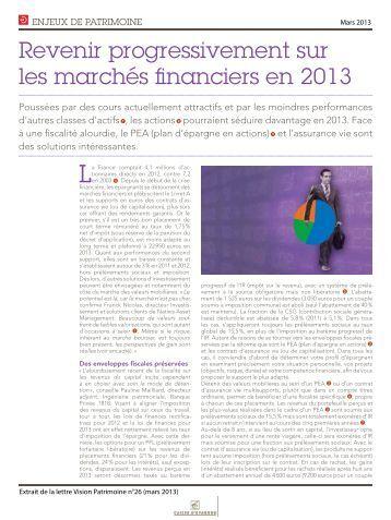 mars 2013 - Caisse d'épargne