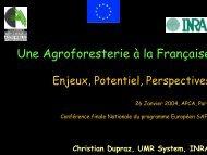 Une Agroforesterie à la Française - INRA Montpellier