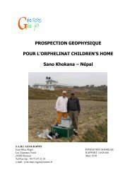 Télécherger rapport expertise géophysique - Enfance Nepal