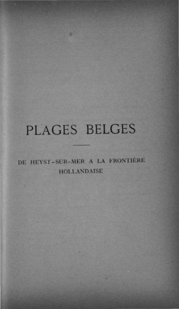 PLAGES BELGES