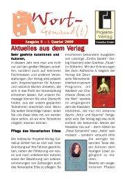 Wort-Gewand(t) 5-2009.pmd - Projekte-Verlag Cornelius