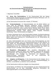 Verbandssatzung des Zweckverbandes Wasserversorgung ... - ZAL