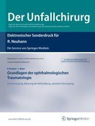 Elektronischer Sonderdruck für Grundlagen der ophthalmologischen ...