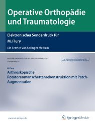 Operative Orthopädie und Traumatologie - Schulthess Klinik