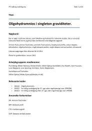 Oligohydramnios i singleton graviditeter. - DSOG