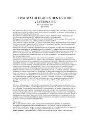 traumatologie en dentisterie vétérinaire - AMVQ