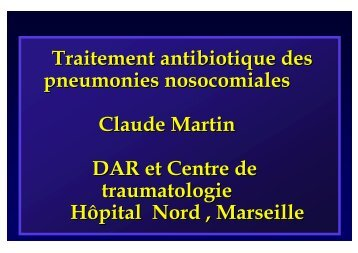 Traitement antibiotique des pneumonies ... - Infectiologie