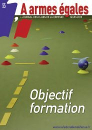 Objectif formation - La fédération des Clubs de la Défense