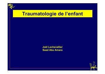 Traumatologie de l'enfant - CHU de Rouen