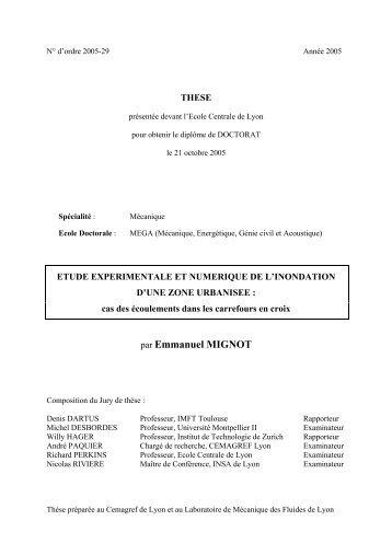 par Emmanuel MIGNOT - Bibliothèque Ecole Centrale Lyon