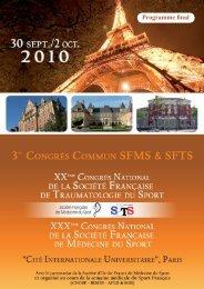 programme congres sfms sfts - Cryo Control