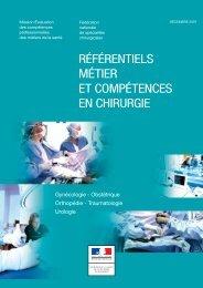 référentiels métier et compétences en chirurgie - Collège national ...