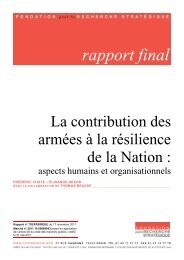 rapport final - Ministère de la Défense