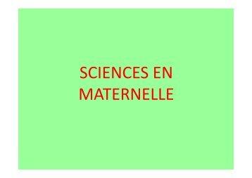 sciences en maternelle