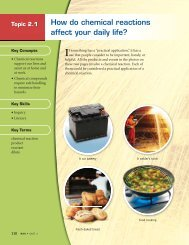 How do chemical reactions affect your daily life? - McGraw-Hill ...