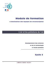 L'air et les pollutions de l'air