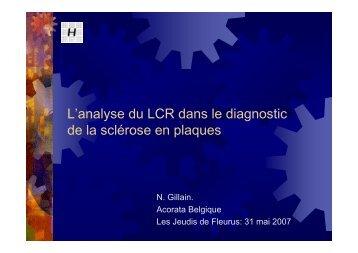 L'analyse du LCR dans le diagnostic de la sclérose en plaques