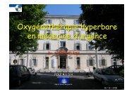 Oxygénothérapie hyperbare - SMUR BMPM
