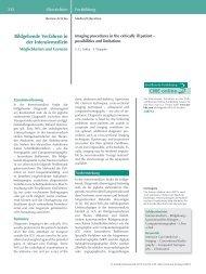 Bildgebende Verfahren in der Intensivmedizin