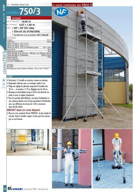 Echafaudage g750 h 3m - Districolor