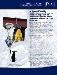 Le dispositif à câble stabilisateur motorisé donne ... - Capital Safety
