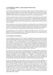 LA FORTERESSE NOIRE : le golem maudit de Michael Mann