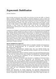 Segmentale Stabilisation - Physiotherapie Michel Kandel
