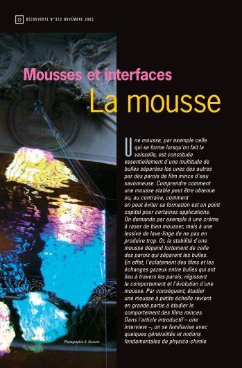 Les secrets des mousses, une interview de Claude Treiner