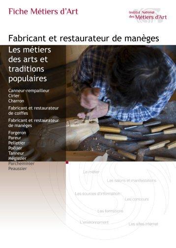 Fabricant et restaurateur de manèges - Institut National des Métiers ...