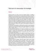 Fabricant et restaurateur de manèges - Institut National des Métiers ... - Page 2