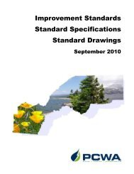 PCWA's Improvement Standards, Standard Specifications, and