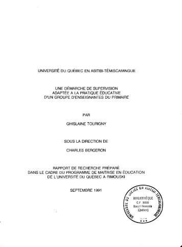 Télécharger (2029Kb) - DEPOSITUM - Université du Québec en ...