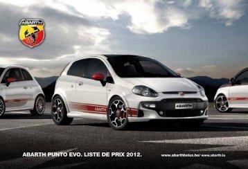 ABARTH PUNTO EVO. LISTE DE PRIX 2012. - Neri Automotive