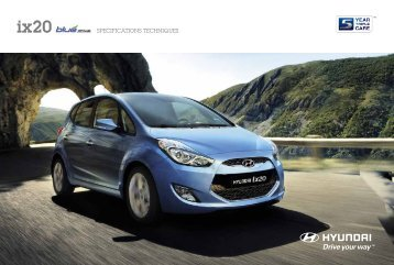 SPECIFICATIONS TECHNIQUES - Hyundai ix20.be