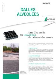 dalles allvéolées - Lafarge France