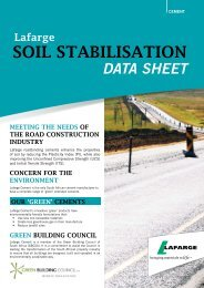 SOIL STABILISATION - Lafarge in South Africa