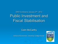 Public Investment and Fiscal Stabilisation - University College Dublin