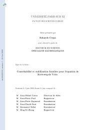 Contrôlabilité et stabilisation frontière pour l'équation de Korteweg ...