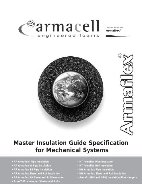 Master Insulation Guide Specification for Mechanical