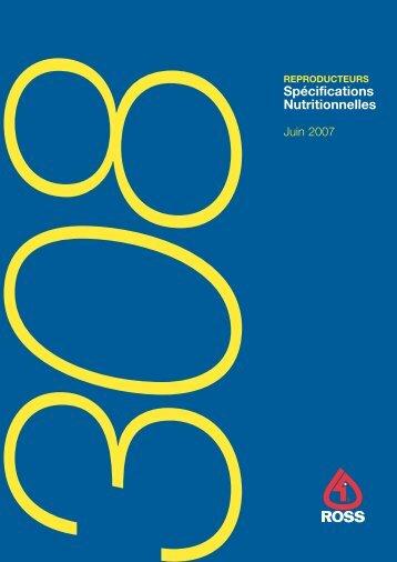 Spécifications Nutritionnelles - Aviagen