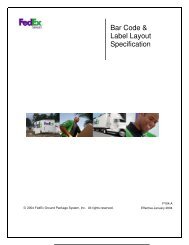 Bar Code & Label Layout Specification - FedEx