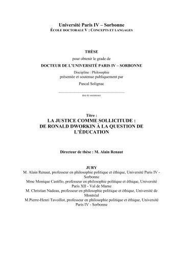 la justice comme sollicitude - Université Paris-Sorbonne