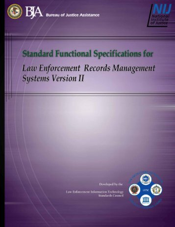 Standard Functional Specifications for Law - IJIS Institute