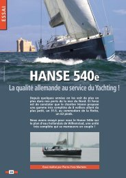Essai Hanse 540 E - Yachting Sud